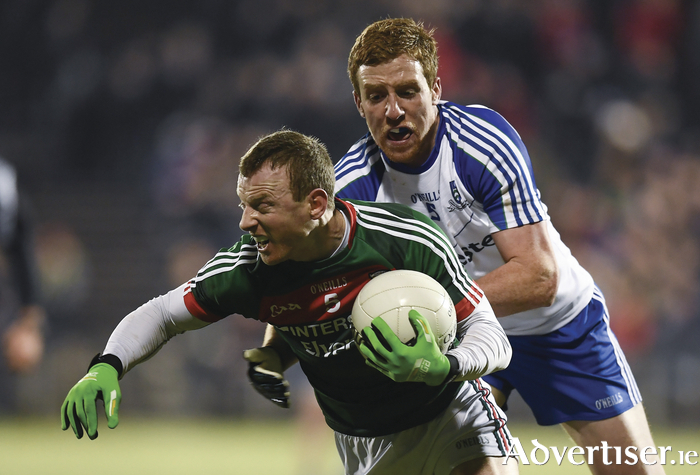 Boyling Point: Colm Boyle makes a break on Saturday night. Photo: Sportsfile