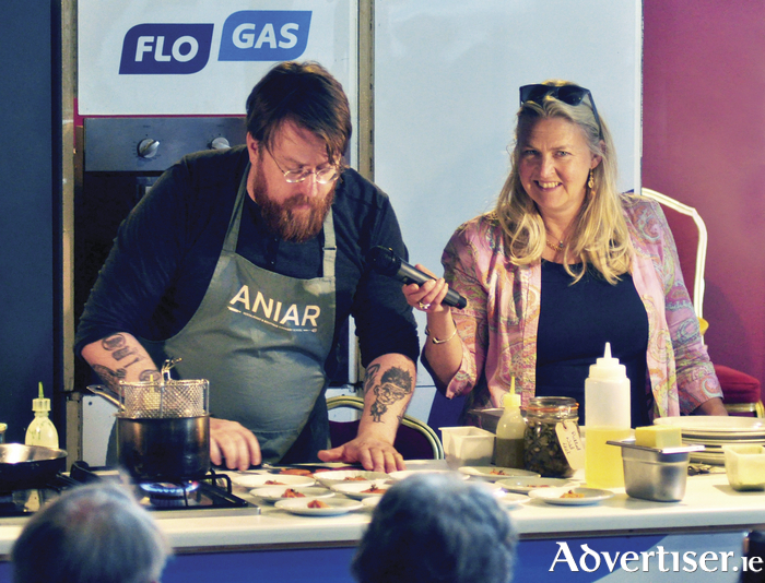 Jp McMahon and Birgitta Hedin-Curtin at last year's Burren Slow Food Festival.