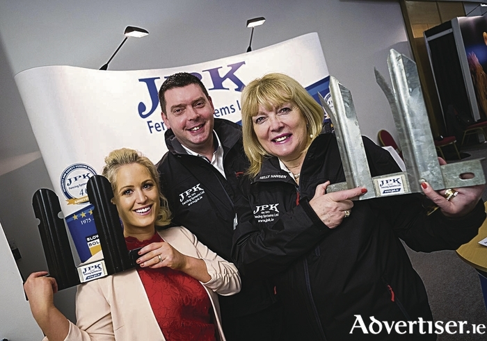 Claregalway-based business JPK Fencing was among the finalists in this year's SFA National Small Business Awards who attended the recent Showcase event on Wednesday 1st February. Pictured are Michelle Kells, Energia and Kenneth and Bridget Kearney, JPK Fencing.
