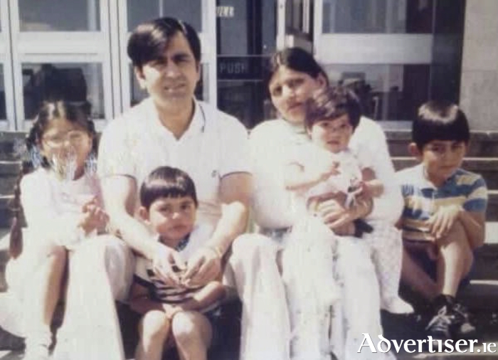 The late Mussarrat Ali Ansari pictured with his family in the 1980s.