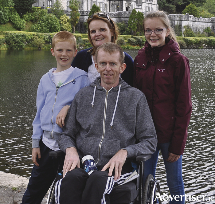 Gerry Commins pictured with his son Shane, wife Caroline and daughter Clodagh.