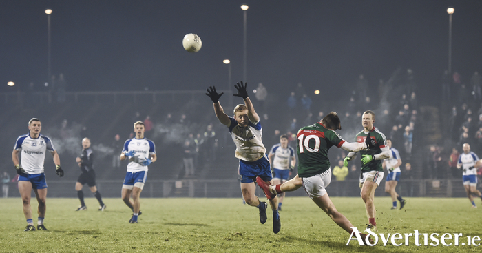 Having a crack: Fergal Boland has an effort for a point last weekend. Photo: Sportsfile.
