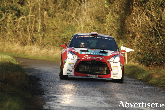 Aaron Machale and Darragh Kelly on the roads around Galway last weekend.