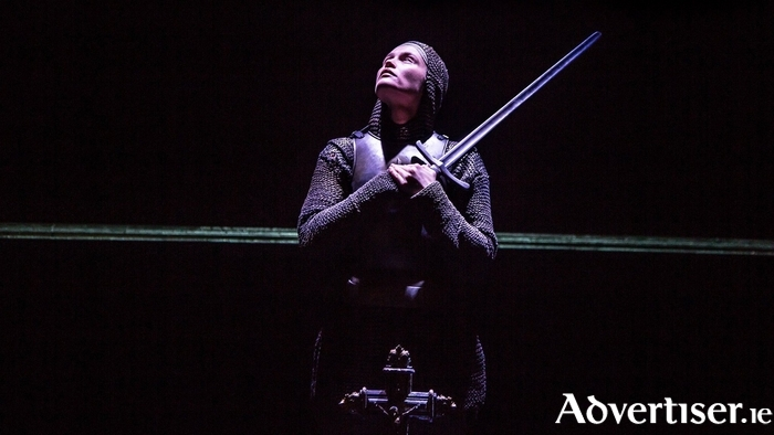 Gemma Arterton in Saint Joan. Photo:- Jack Sain