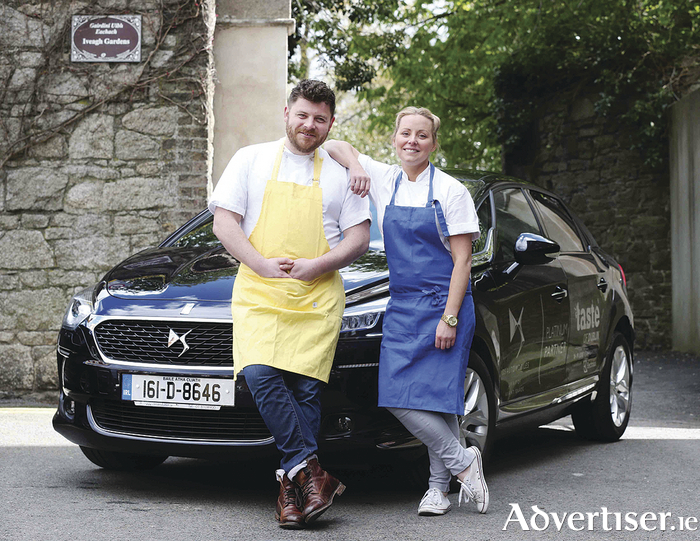 Pictured at the announcement are chefs Anna Haugh and Simon Lamont with the stylish DS 5