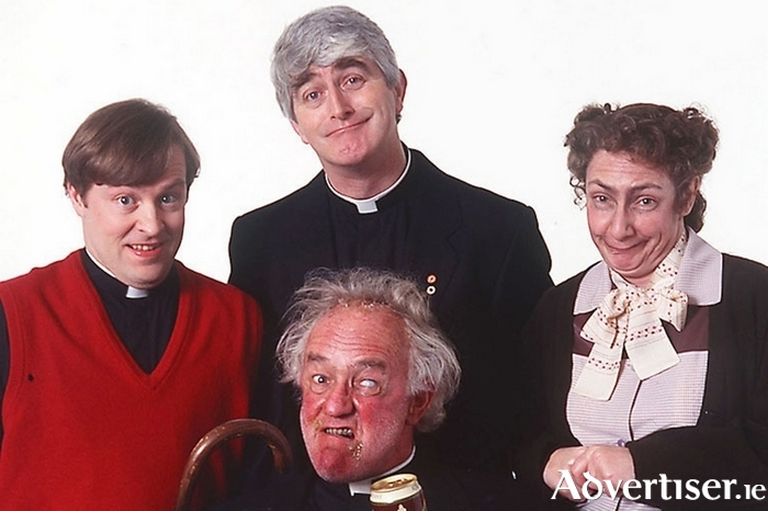 The cast of legendary comedy series Father Ted.