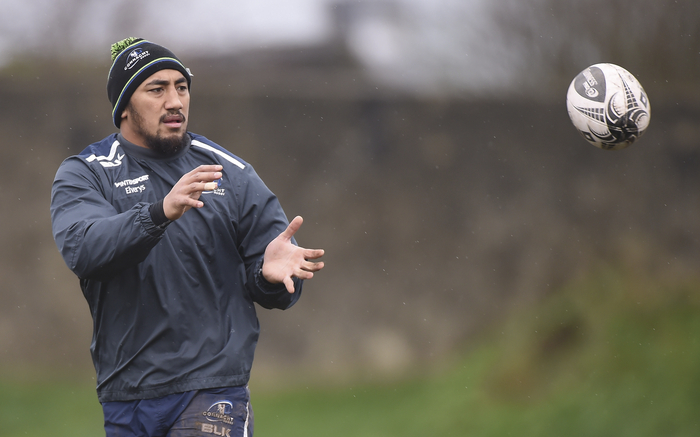 Bouncing back: Bundee Aki's return to full training is a big boost to Connacht ahead of the closing stages of the season. Photo: Sportsfile