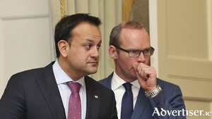 Leo Varadkar and Simon Coveney - whoever becomes the next leader of FG will determine the survival of the current Government. Photo:- Colin Keegan