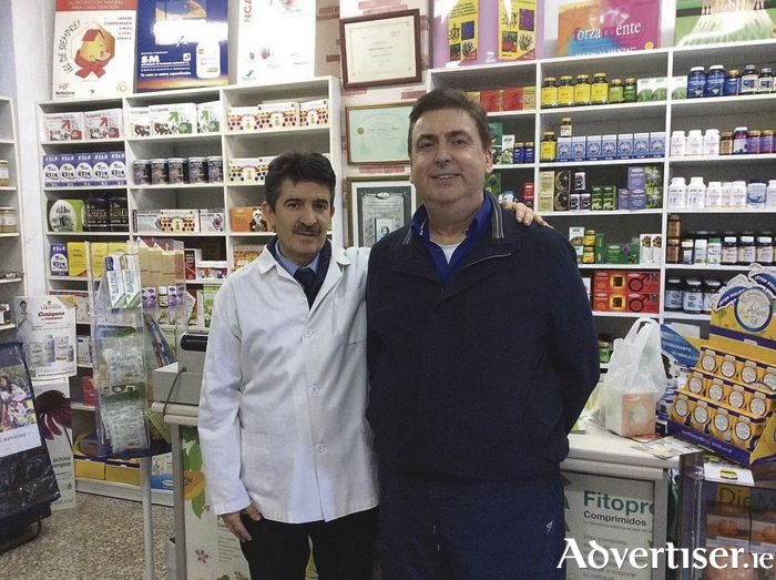 Patrick Murphy, skin herbalist, and Professor Joaquin Fernandez Alcaraz at the recent Supertronic health training in Murcia, Spain. Mr Murphy has been trained by the professor and is fully trained and accredited in electrodermal screening. For more information see skinherbalist.com.
