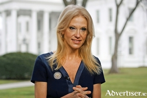 Kellyanne Conway, counselor to US president for Donald Trump, and infamous for coining the term 'alternative facts'.