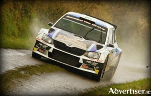 Joseph McGonigle and Ciaran Geaney who are seeded number one for this weekend's Mayo Stages Rally.