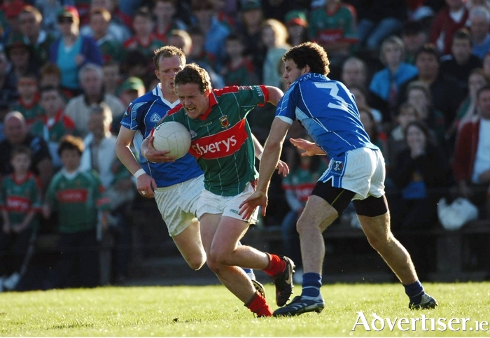 Way back then: Andy Moran in action for Mayo against Cavan in Mayo's last competitive meeting with Cavan in 2007. Photo: Sportsfile.