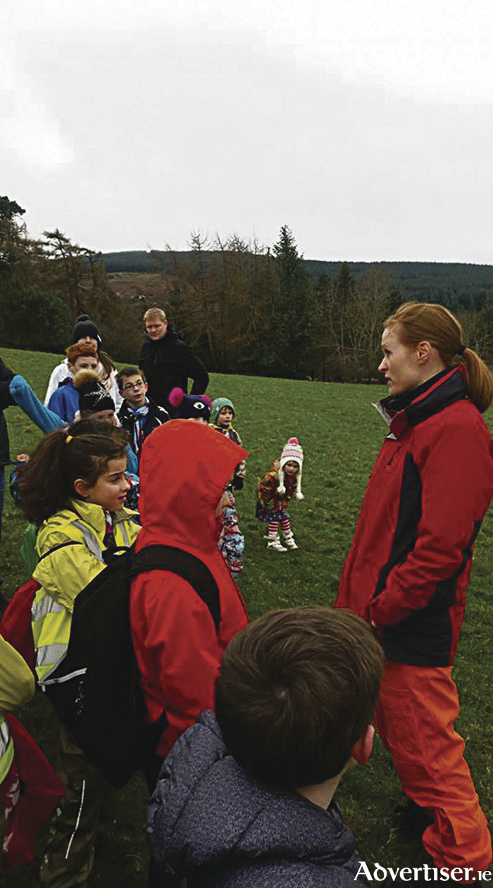 Capt Dara Fitzpatrick inspiring young scouts at an event just last week.