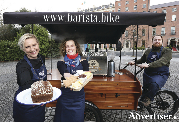 Pictured at the launch of the sixth Galway Food Festival are  Domini Kemp from Hatch & Sons, Heather Flaherty(right) and Jp McMahon from Galway Food Festival. Photography: Sasko Lazarov/Photocall Ireland