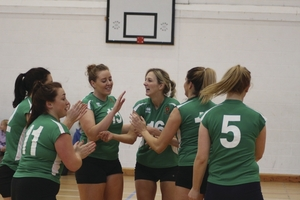 Winning feeling: Mayo have claimed the division two title in the National Volleyball League.