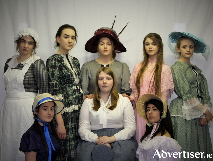 The cast of Little Women which will take to the stage next week in Westport Town Hall.