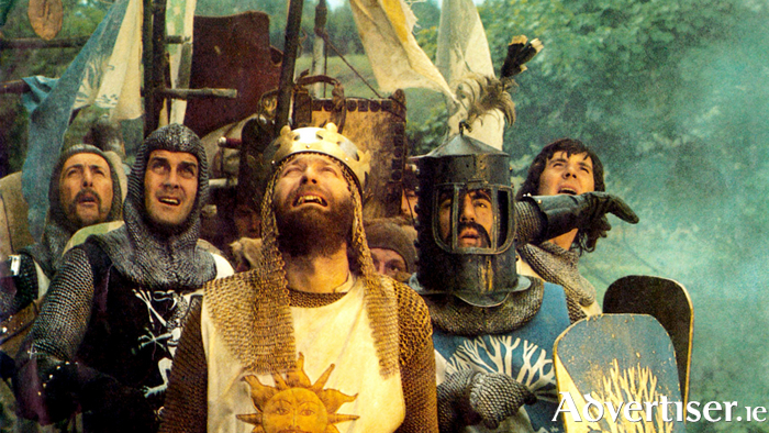 A scene from the film Monty Python and The Holy Grail, which former Python Eric Idle used ass the basis for the Spamalot musical.