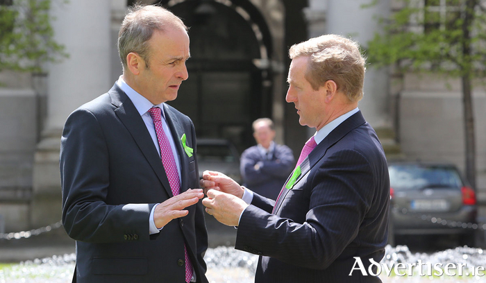 Michael Martin and Enda Kenny.
