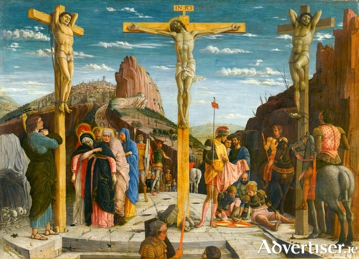 Mantegna's depiction of the crucifixion.