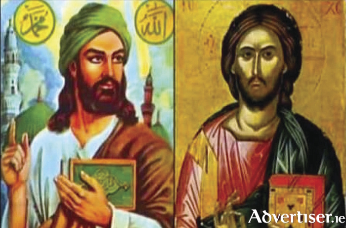 Muslim and Christian depictions of Jesus.