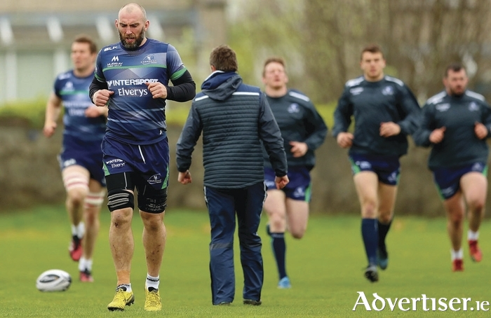 Leading from  the front: Connacht captain John Muldoon hits the 300 Pro 12 and European appearances for Connacht on Saturday, making him the highest Pro 12 player for both caps and minutes played.