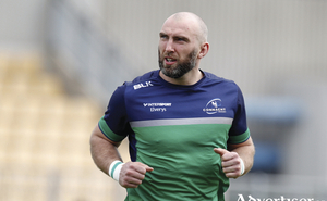 John Muldoon will get his 300th Connacht cap this weekend against Lenister. Photo: Sportsfile.