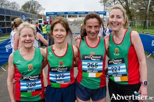 Mags Glavey, Angela O'Connor, Colette Tuohy, Ann McDonnell who won gold at the National 10K championships.