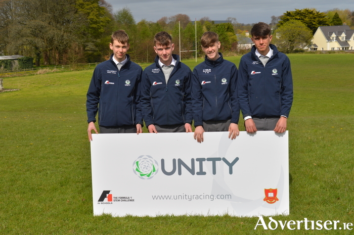 Members of Unity Racing who are looking to break a world record from left; Cormac McDermott, Sean Treacy, Peter Timlin and Richard Grimes.