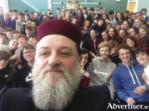 Imam Ibrahim Noonan at a recent lecture to young people on Islam.