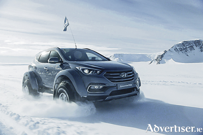 A near standard Hyundai Santa Fe 2.2-litre diesel conquers the Antarctic driven by great grandson of Sir Ernest Shackleton.