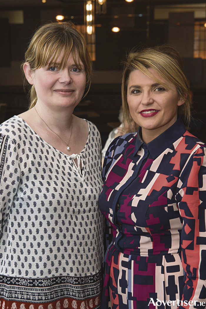 "AnneMarie Carroll, food writer for Galway Advertiser and Eveanna Ryan, Director Sales & Marketing, Harbour Hotel pictured at the ""Captain's Table"" Dinner in Dillisk on the Docks - Galway's newest bar and restaurant at the Harbour Hotel. Photo Martina Regan"