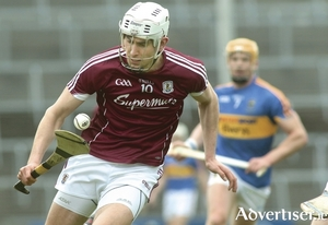 Galway's man of the match Jason Flynn produced two goals in the Allianz Hurling League final against Tipperary at The Gaelic Grounds, Limerick on Sunday.			Photo:-Mike Shaughnessy