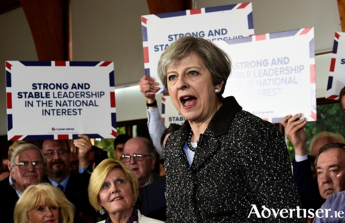 Theresa May - her relentless message of 'strong and stable leadership' seems to be working
