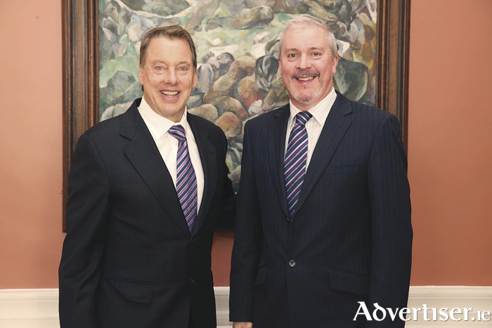 William Clay Ford Jr, great grandson of Henry Ford with Ciarán McMahon, managing director of Ford Ireland, at the company's centenary celebrations in Cork.