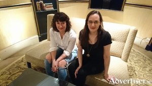 Sarah Davis-Goff (left) and Lisa Coen of Tramp Press. Photo:- Kernan Andrews