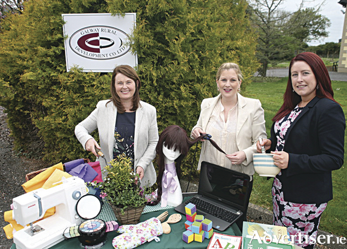 Freeda Garman, Elaine Quinn and Clara Cashman, SICAP team members at Galway Rural Development, Athenry pictured at the launch of the Learning For Life Series which take place in Tuam, Loughrea and Ballinasloe providing information on free courses in Galway City and County. Photo: Michael Burke