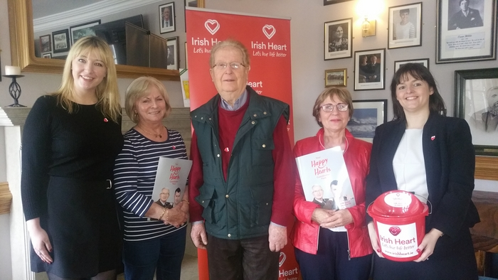 Sarah Mackey, (Irish Heart Regional Fundraising Coordinator), Mary Conway Murphy from Castlebar, Peter McHugh from Claremorris, Marie Kerins from Castlebar, and Claire Bird from (Breaffy House) launch the drive for the Irish Heart fundraiser on Friday, May 12.