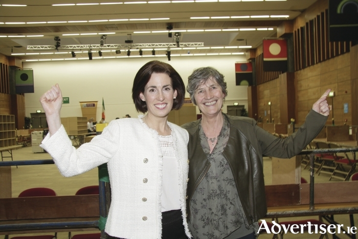 Hildegarde Naughton and Catherine Connolly celebrate their election to Dáil Éireann in 2016. Will both of them be returned at the next General Election?