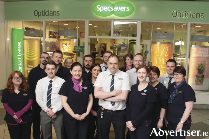 The Specsaver team, Eyre Square Centre Galway. Photo:-Mike Shaughnessy