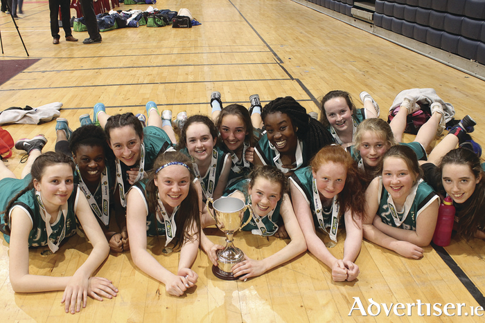 Winning smiles:  Salerno pupils who won this year's All Ireland U15 B basketball cup.
