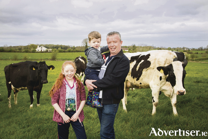 Patrick O'Boyle from Knockmore who was awarded the Most Improved SCC prize at the Aurivo Milk Quality Awards