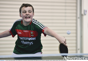 Oisin Jordan from Balla in action in the Community Games last weekend.  Photo: Sportsfile.