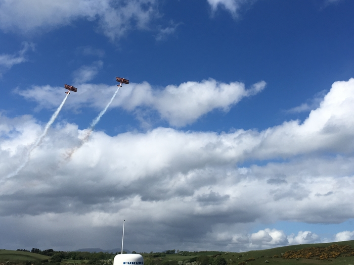 High Flying: Thousands of people were treated to high flying skills at the Westport 250 Airshow on Sunday.