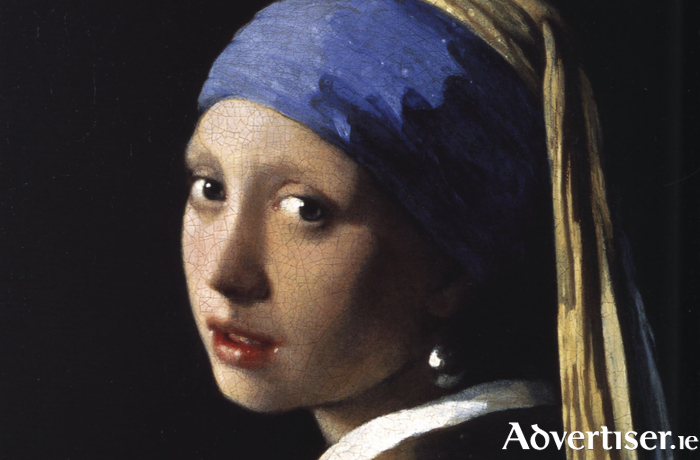 Detail from Vermeer's much loved 1665 painting, Girl With A Pearl Earring.