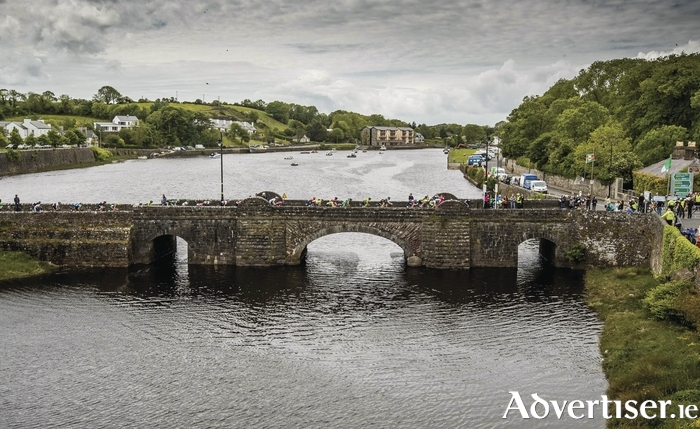 The Rás enters Newport at the end of day two. Photo: Inpho