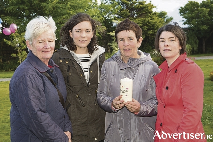 Maura Faherty, Caithriona Leonard, Catherine Leonard and Trisha Graham pictured at the Circle of Life garden in Salthill. Photo Martina Regan