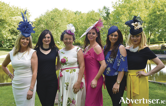 Pictured at the launch of the Annual Breast Cancer Research Pink Afternoon at The Lodge at Ashford Castle which takes place on Friday, June 16.  (L-R) Milliners Majella Dalton, Andrea Tighe, Dr. Orla Smithwick guest speaker, milliners Gillian Duggan, Mary White, and Brid O'Driscoll. Tickets available at www.BreastCancerResearch.ie, email Hello@BreastCancerResearch.ie, or call 091 863 917. Photo Tom Taheny