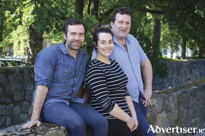 Patrick Ryan, Seona Tully and Andrew Flynn of Decadent Theatre Company. Photo:- Mike Shaughnessy
