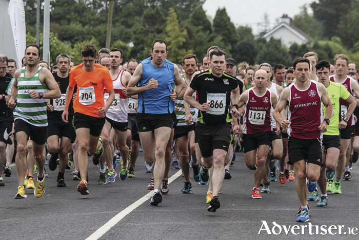 Ready to race: The start of the 5k series race in Claregalway.  Photo: John O'Connor