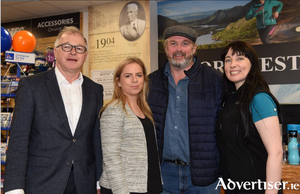 Owen Hughes (Director, Portwest), Rachel Davoren (General Manager, Portwest); local explorer Mike O' Shea and Sarah Clinton (Store Manager).